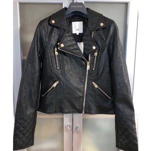 River Island Faux Leather Biker Jacket